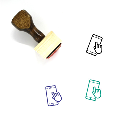 Interaction Wooden Rubber Stamp No. 28