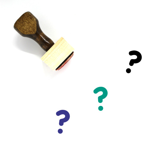 Question Wooden Rubber Stamp No. 106