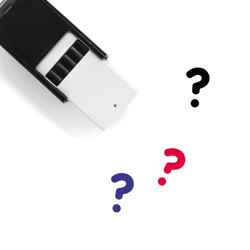 Question Self-Inking Rubber Stamp No. 106