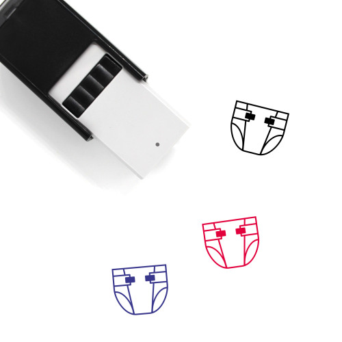 Diaper Self-Inking Rubber Stamp No. 82