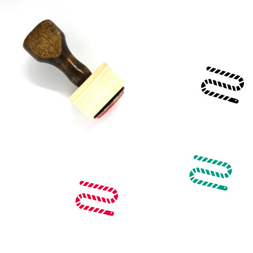 Worm Wooden Rubber Stamp No. 35