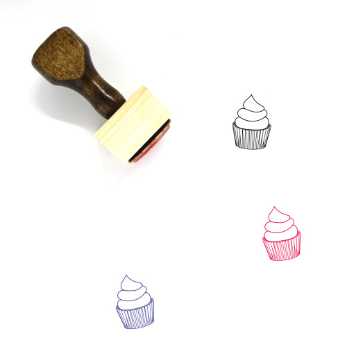Cupcake Wooden Rubber Stamp No. 93