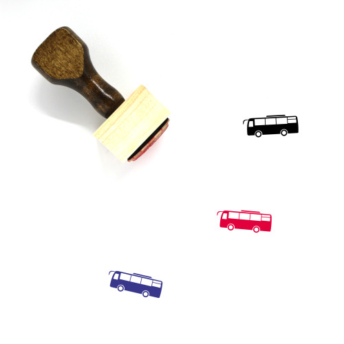 Bus Wooden Rubber Stamp No. 160