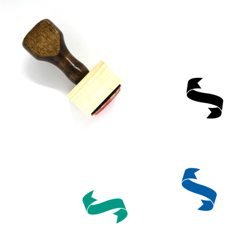 Ribbon Wooden Rubber Stamp No. 194