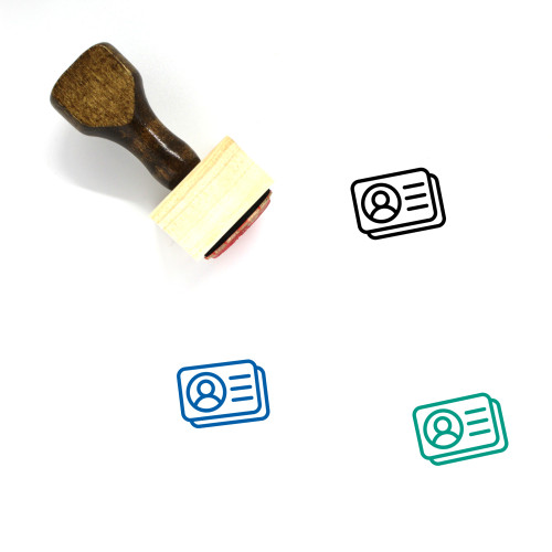 Id Cards Wooden Rubber Stamp No. 7