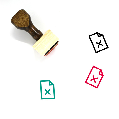 Remove File Page Wooden Rubber Stamp No. 1
