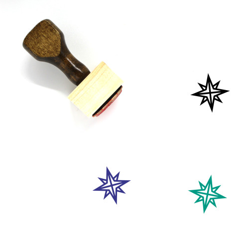 Compass Rose Wooden Rubber Stamp No. 31