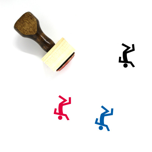 Break Dance Wooden Rubber Stamp No. 18