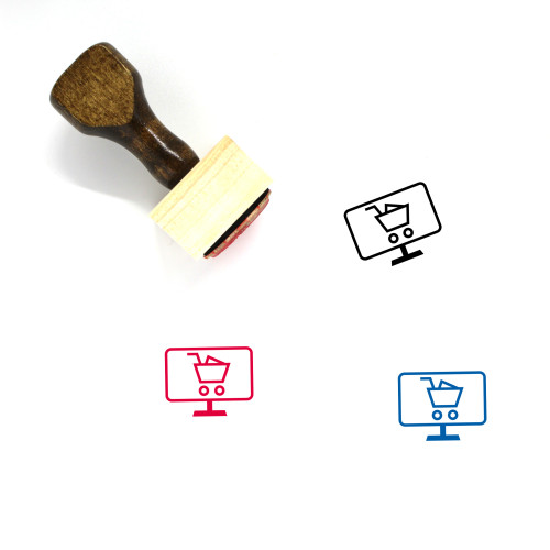 Online Shopping Wooden Rubber Stamp No. 88