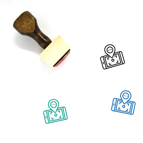 Gps Location Wooden Rubber Stamp No. 22