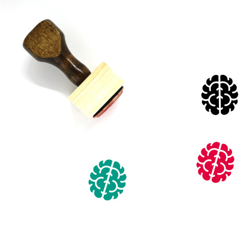 Brain Wooden Rubber Stamp No. 189