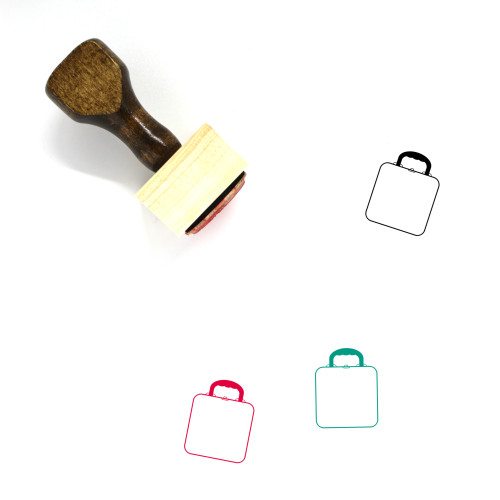 Lunch Box Wooden Rubber Stamp No. 31