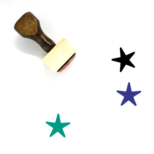 Star Wooden Rubber Stamp No. 915