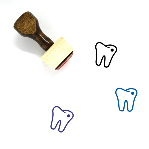 Tooth Cavity Wooden Rubber Stamp No. 2