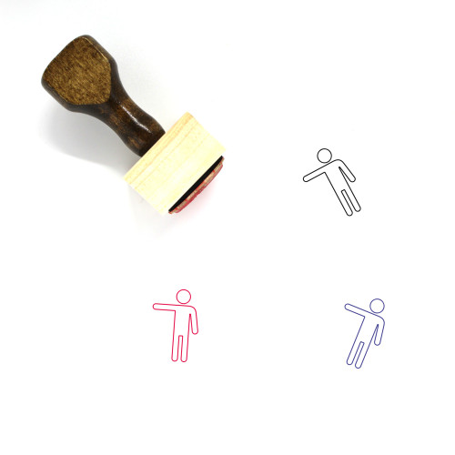 Man Wooden Rubber Stamp No. 489