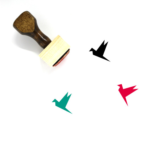 Origami Bird Wooden Rubber Stamp No. 34
