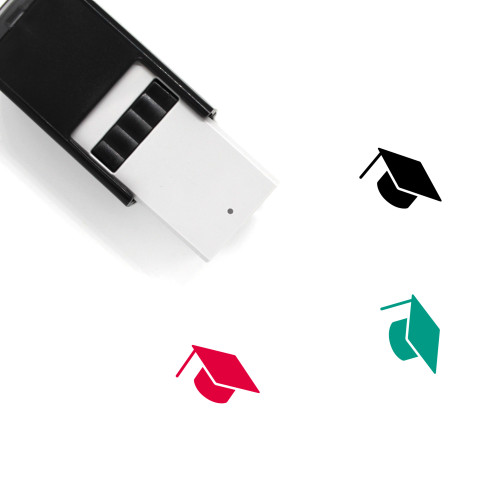Graduate Hat Self-Inking Rubber Stamp No. 11