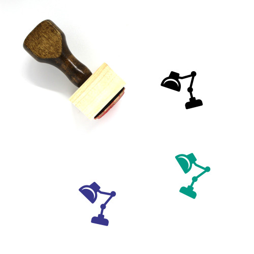 Lamp Light Wooden Rubber Stamp No. 20