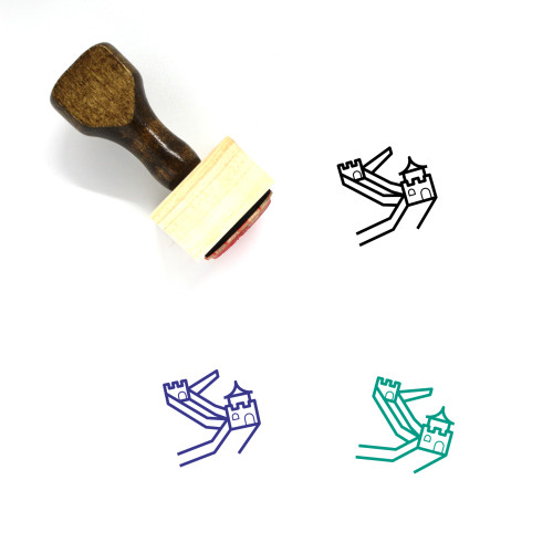 Great Wall Wooden Rubber Stamp No. 13