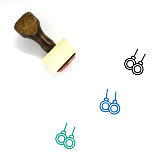 Gymnastic Wooden Rubber Stamp No. 6