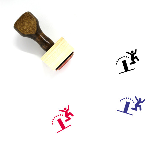 Jumping Hurdle Wooden Rubber Stamp No. 1