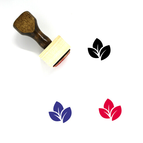 Leaves Wooden Rubber Stamp No. 60