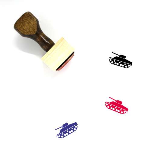 Tank Wooden Rubber Stamp No. 98