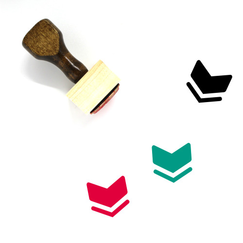 Rank Wooden Rubber Stamp No. 17