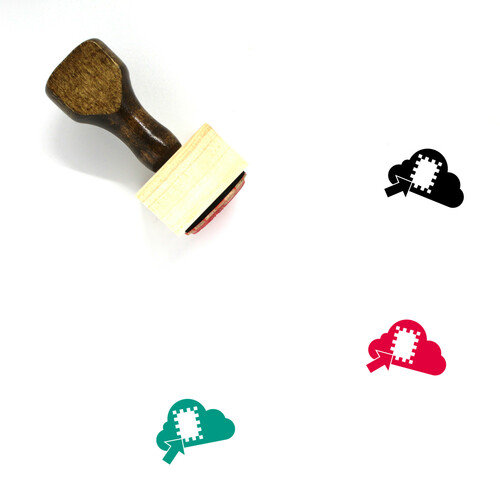 Cloud File Wooden Rubber Stamp No. 34
