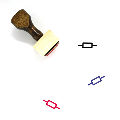 Resistor Wooden Rubber Stamp No. 6