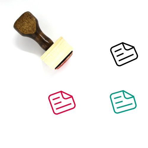 Note Wooden Rubber Stamp No. 57