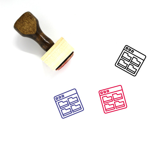File Archive Wooden Rubber Stamp No. 6