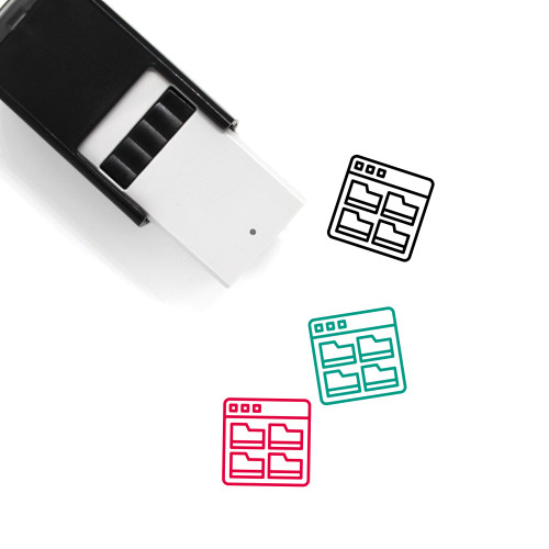 File Archive Self-Inking Rubber Stamp No. 6
