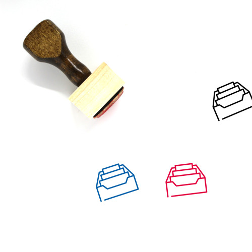 Inbox Wooden Rubber Stamp No. 89
