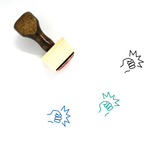 Fighting Wooden Rubber Stamp No. 5