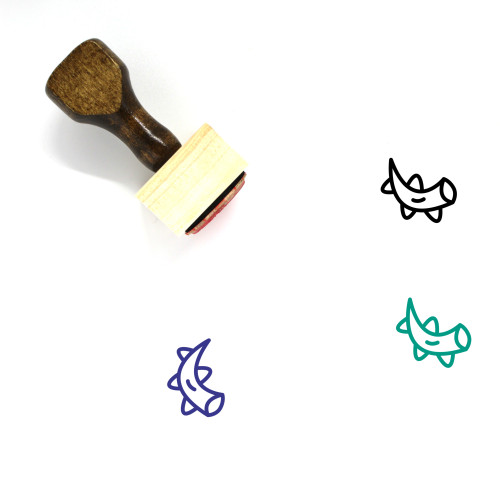 Tentacles Wooden Rubber Stamp No. 1
