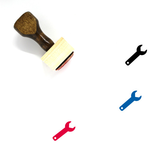 Tools And Settings Wooden Rubber Stamp No. 4