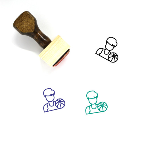Physical Education Wooden Rubber Stamp No. 6