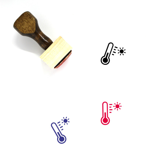 Temperature Wooden Rubber Stamp No. 57