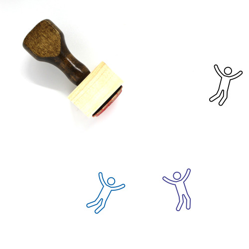 Jump Wooden Rubber Stamp No. 72