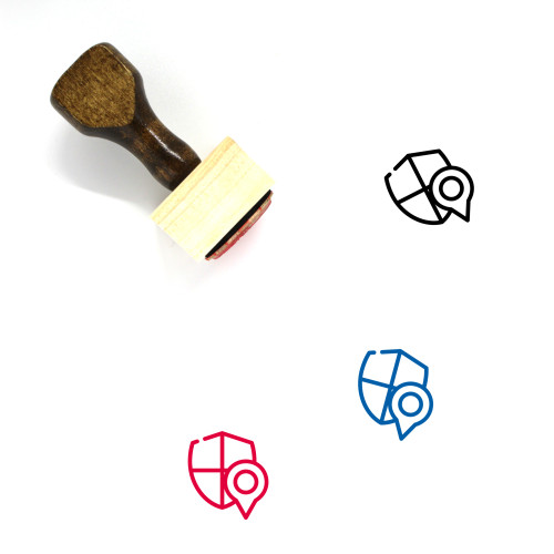 Secure Location Wooden Rubber Stamp No. 12
