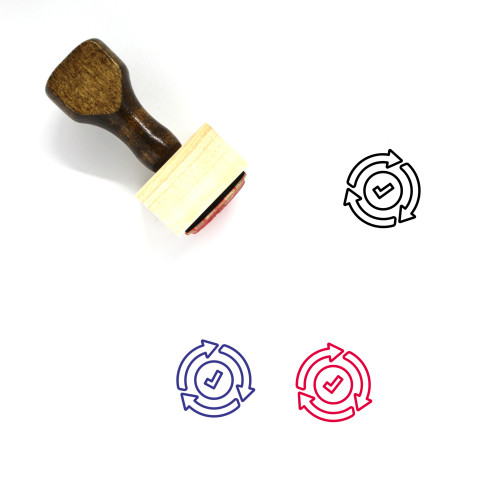 Process Wooden Rubber Stamp No. 41