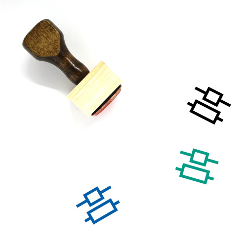 Line Center Alignment Wooden Rubber Stamp No. 1