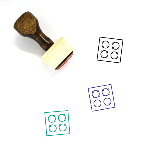 Hotplate Wooden Rubber Stamp No. 1