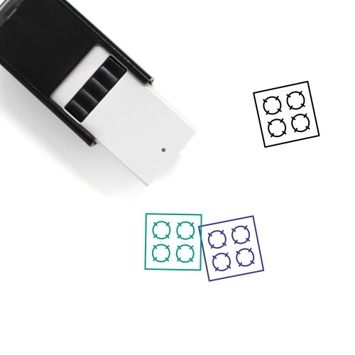 Hotplate Self-Inking Rubber Stamp No. 1