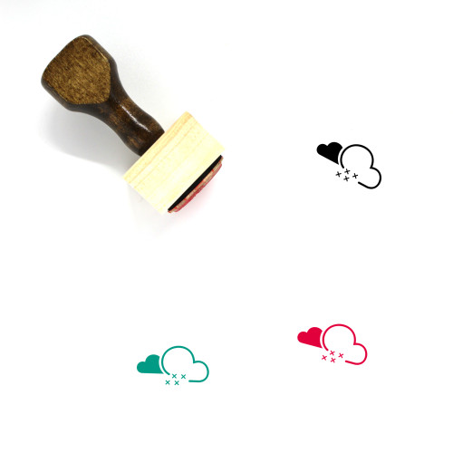 Snow Wooden Rubber Stamp No. 111