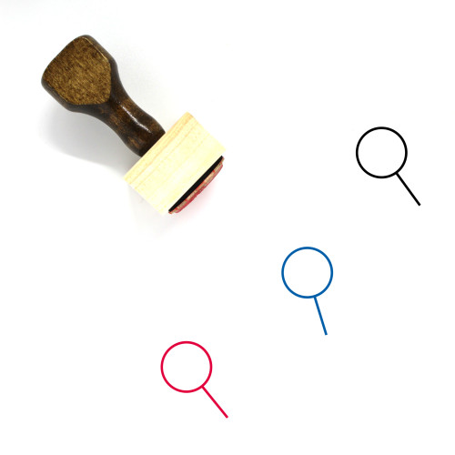 Magnifying Glass Wooden Rubber Stamp No. 300