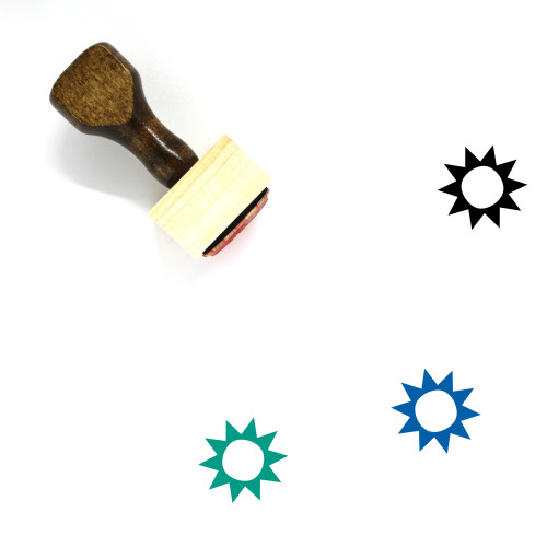 Sun Wooden Rubber Stamp No. 454