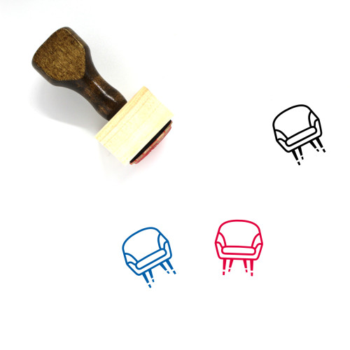 Chair Wooden Rubber Stamp No. 196