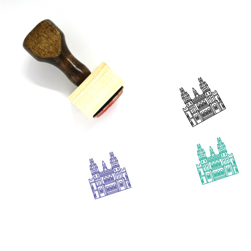University Of Oxford Wooden Rubber Stamp No. 1